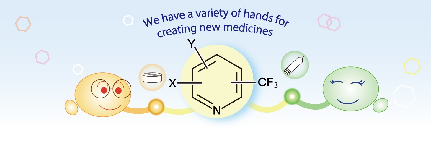 We have a variety of hands for creating new medicines